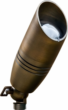 Dabmar LV235-WBS Contemporary Weathered Brass Halogen Outdoor Directional Spot Light with Hood