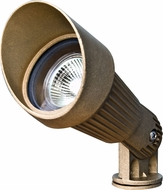 Dabmar LV26 Modern Brass Halogen Exterior Directional Spotlight with Hood