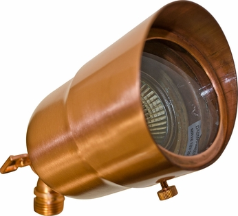 Dabmar LV29-HOOD-CP Contemporary Copper Halogen Outdoor Directional Spot Lighting with Hood
