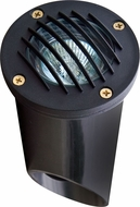Dabmar LV295-B Contemporary Black Halogen Exterior Cast Aluminum Well Lighting with Grill