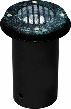 Dabmar LV300-VG-SLV Modern Verde Green Halogen Outdoor Cast Aluminum Well Light with Grill