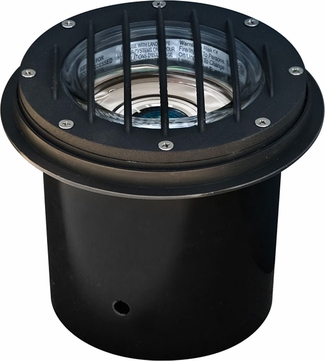 Dabmar LV305-B-MR Contemporary Black Halogen Exterior Cast Aluminum Well Lighting with Grill