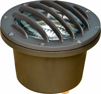 Dabmar LV305-BZ-SLV Modern Bronze Halogen Outdoor Cast Aluminum Well Light with Grill