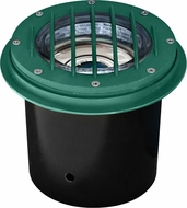 Dabmar LV305-G-MR Contemporary Green Halogen Exterior Cast Aluminum Well Lighting with Grill