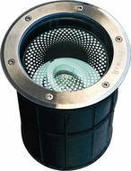 Dabmar LV312 Modern Stainless Steel Halogen Outdoor In-Ground Well Light with Adjustable Lamp