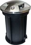 Dabmar LV321-SS316 Modern Stainless Steel Halogen Outdoor In-Ground Well Light with PVC Sleeve