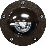 Dabmar LV344-BZ Modern Bronze Halogen Outdoor Polybutylene Terephthalate Adjustable In-Ground Well Light with Eyelid