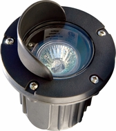Dabmar LV347-B Contemporary Black Halogen Exterior Polybutylene Terephthalate Adjustable In-Ground Well Lighting with Hood