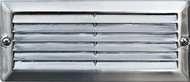 Dabmar LV600-SS Electro-Plated Stainless Steel Halogen Outdoor Cast Aluminum Recessed Louvered Step Lighting