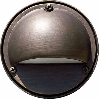 Dabmar LV605-BZ Contemporary Bronze Halogen Exterior Surface Mount Hooded Step Lighting