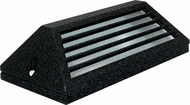 Dabmar LV608-B Contemporary Black Halogen Outdoor Surface Mount Louvered Step Light Fixture
