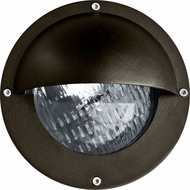 Dabmar LV609-BZ Modern Bronze Halogen Exterior Recessed Step Lighting Fixture with Eyelid