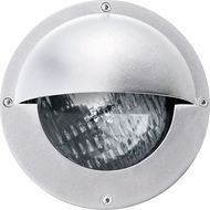 Dabmar LV609-W Modern White Halogen Exterior Recessed Step Lighting with Eyelid