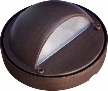 Dabmar LV611-WBS Modern Weathered Brass Halogen Outdoor Deck Light