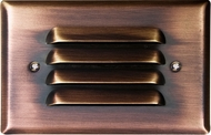 Dabmar LV617-ABZ Antique Bronze Halogen Exterior Recessed Louvered Step Lighting