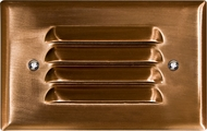 Dabmar LV617-CP Copper Halogen Outdoor Recessed Louvered Step Light