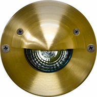 Dabmar LV625-BS Modern Brass Halogen Outdoor In-Ground Well Light with Eyelid