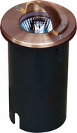 Dabmar LV625-CP Contemporary Copper Halogen Exterior Well Lighting with Eyelid