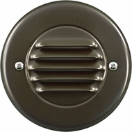 Dabmar LV708-BZ Contemporary Bronze Halogen Exterior Cast Aluminum Recessed Louvered Step Lighting