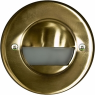 Dabmar LV709-ABS Contemporary Antique Brass Halogen Exterior Recessed Open Face Step Lighting