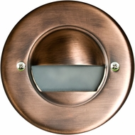 Dabmar LV709-ABZ Modern Antique Bronze Halogen Outdoor Recessed Open Face Step Light Fixture