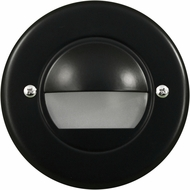 Dabmar LV709-B Contemporary Black Halogen Exterior Cast Aluminum Recessed Open Face Step Lighting Fixture