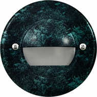Dabmar LV709-VG Modern Verde Green Halogen Outdoor Cast Aluminum Recessed Open Face Step Light Fixture