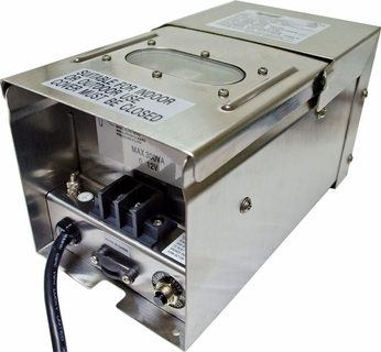 Dabmar LVT300-SS Stainless Steel Exterior Magnetic 300 Watt Low Voltage Transformer with Digital Timer and Photocell