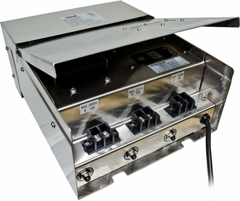 Dabmar LVT700-SS Stainless Steel Outdoor Magnetic 700 Watt Low Voltage Transformer with Digital Timer and Photocell