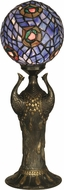 Dale Tiffany 0073 Globe Peacock Tiffany Antique Brass Table Lamp