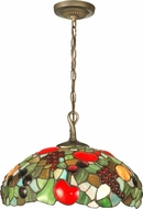 Dale Tiffany 7362-1LTA Fruit With Jewels Tiffany Antique Brass Pendant Light Fixture