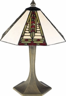 Dale Tiffany 7585-532 Dana Tiffany Antique Brass Table Top Lamp