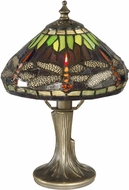 Dale Tiffany 7601-521 Dragonfly Tiffany Antique Bronze Side Table Lamp
