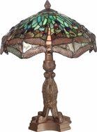 Dale Tiffany 7703-637 Dragonfly Tiffany Antique Bronze Table Lamp