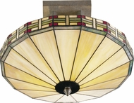 Dale Tiffany 8644-2LTF Mission Umbrella Tiffany Antique Bronze Flush Lighting