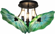 Dale Tiffany AH14302 Waterfront Modern Dark Bronze Ceiling Lighting
