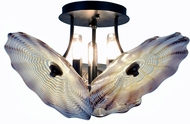 Dale Tiffany AH14342 Impasto Modern Dark Bronze Ceiling Light Fixture