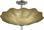 Dale Tiffany AH18010 Beige Feather Contemporary Polished Chrome Ceiling Light Fixture