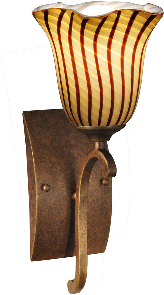 Antique Tiffany Wall Sconces : Dale Tiffany AW14176 Valley Glen Contemporary Antique Golden Bronze Wall Sconce - DAL-AW14176