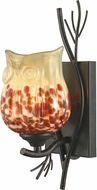 Dale Tiffany AW14301 Spotted Owl Modern Dark Bronze Sconce Lighting