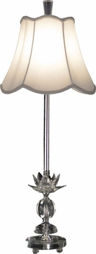 Dale Tiffany GB11163 Rowland Chrome Buffet Table Lamp