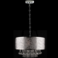 Dale Tiffany GH13045 Silver Leaf Polished Chrome Drum Pendant Lighting Fixture
