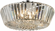 Dale Tiffany GH13340 Lena Polished Chrome Flush Mount Light Fixture