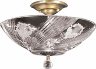Dale Tiffany GH60717PB Grove Park Polished Brass Ceiling Lighting Fixture