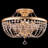 Dale Tiffany GH90108 St Marys Bay Gold Overhead Lighting Fixture