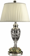 Dale Tiffany GT10015 Floral Polished Chrome Lighting Table Lamp