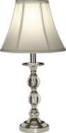 Dale Tiffany GT10169 Marianne Polished Chrome Table Lamp Lighting
