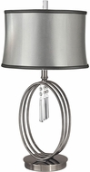 Dale Tiffany GT13255 Halo Ring Antique Nickel Side Table Lamp