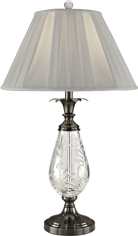 Dale Tiffany Gt13264 Etched Leaf Antique Nickel Table Lamp