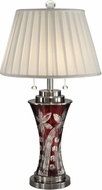 Dale Tiffany GT13265 Red Floral Antique Nickel Table Light
